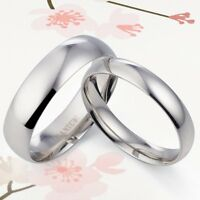 Plain Groom Bride Couple Wedding Ring 047A3