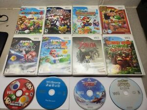 Nintendo Wii Games You Choose from Large Selection Mario Donkey Kong Wii Sports