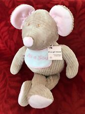 """Mothercare Cord Mouse 19"""" It's a Girl"""