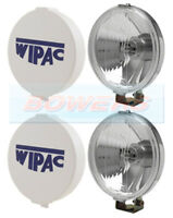 "CLASSIC MINI CHROME WIPAC 5 1/2"" DRIVING LIGHTS DRIVING LAMPS BOXED PAIR +COVERS"