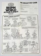 Vintage Star Wars 1982 ESB Kenner Micro Bespin World Instructions Sheet