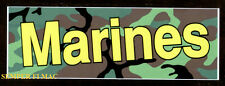 AUTHENTIC MADE IN US MARINES CAMOFLAUGE BUMPER STICKER DECAL ZAP USMC PIN UP