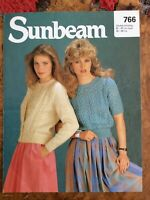Womens knitting patterns.jumpers.cardigans.size 32-38 inch bust.DK.Sunbeam patt