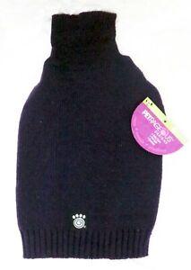 PETRAGEOUS DESIGNS Navy Blue Turtleneck Knit Dog Sweater (S) (NEW)