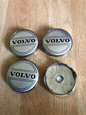 4x Volvo Wheel Centre Cap Alloy Hub New Set Of 4 Centre Caps 60mm Silver/Black