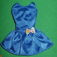 BARBIE  FASHION - ROYAL BLUE KNIT TRICOT DRESS-MATTEL