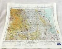 1952 Vintage Military Map of The Midlands Lincolnshire RAF Aeronautical Chart