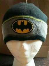 Batman Winter Hat  DC Comics- Black/Gray/Yellow Knit Cap one size fits most