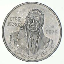 SILVER - WORLD COIN - 1978 Mexico 100 Pesos - World Silver Coin *875
