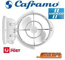 NEW Sirocco II Fan Caframo 12/24 Volt White Caravan Boat RV Siroco 2