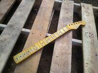 CUSTOM relic Vintage Nitro Maple s guitar neck SS frets fits OEM bodies DIY