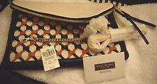 NEW Henri Bendel Debutante Orange, Black & White Woven Convertible  $328 RETAIL