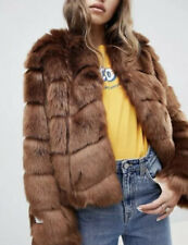 Jakke Brown Faux Fur Bomber Jacket Size 4 NWT SOLD OUT!