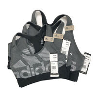 Adidas Climacool Women's Sports Non Padded Bra DX7574 Black Don't Rest New $30