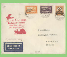 More details for hungary 1931 flight cover, budapest to venice with red flight cachet
