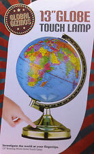 Global Gizmos 13-inch Rotating world Globe Touch Lamp with Bulb New