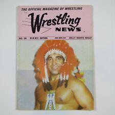 WRESTLING NEWS WWF EDITION - VINTAGE 1976 WRESTLING MAGAZINE - MONSOON v ALI