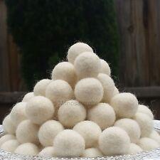 2cm White Felt Balls ~ Handmade Wool Felt Beads Pom Pom Home Decor DIY Crafts