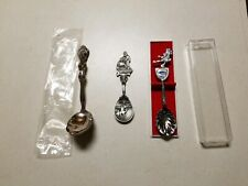 Lot of 3 Collector Spoons,1984 Louisiana pelican worlds Fair,Pewter Manger