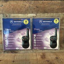 TWO NEW Motorola T6220 Talkabout 2 Way Radio Walkie Talkie W/ Charger