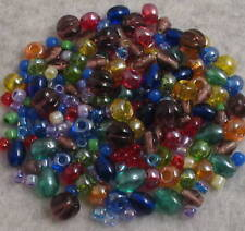 220+ Rainbow Brights Loose Glass Beads Czech-Matsuno+Lot