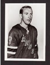 Bob Nevin Vintage New York Rangers 1960s Team Issued Glossy Hockey Photo