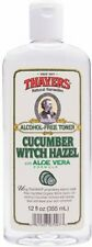 Witch Hazel Cucumber Aloe Alcohol Free, Thayers, 12 oz