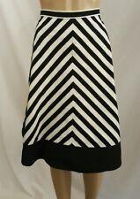 American Living Women's Junior's Flare Skirt White Black Size 14