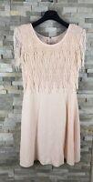 Joseph Ribkoff Ladies Size 10 Light Pink Lace Crepe Occasion Dress