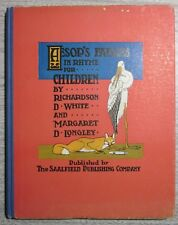 1903, AESOP'S FABLES IN RHYME FOR CHILDREN,LONGLEY & WHITE, SCARCE DUST JACKET