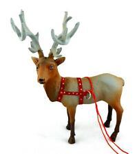 Dolls House Santa Reindeer Dancer Miniature Christmas Accessory Stable Animal