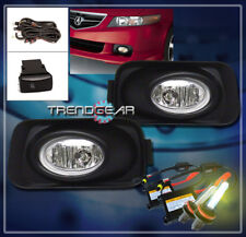 2004-2005 ACURA TSX BASE 4DR BUMPER DRIVING CHROME FOG LIGHTS LAMPS W/3000K HID