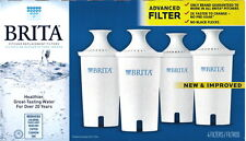 Water Filters 4 Pack Brita Pitcher Dispensers Replacement Filters New Model OB03