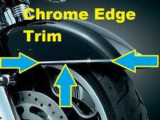 CHROME MOTORCYCLE FENDER GAS TANK WINDSHIEL EDGE TRIM PROTECTION KIT (USA) Made!