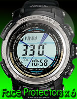 """Casio PAW  1300 1500 2000 5000 Watch protectors  x 6 """" Protect your Watch Face """""""