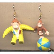 Huge Funky Monkey CURIOUS GEORGE EARRINGS Cute Chimp Ape Teacher Costume Jewelry