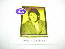 PAUL Mc CARTNEY - BEAUTIFUL NIGHT 2tr CD SINGLE HOLLAND