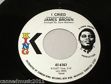 James Brown: I Cried / World Pt. 2  [White Label - Unplayed Copy]
