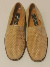 Avventura Shoes Tan Suede Leather Made In Italy Size 41