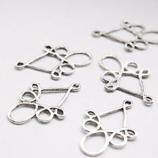 10pcs Oxidized Silver Tone Base Metal Earring Findings-38x25mm (26359Y-O-39A)W