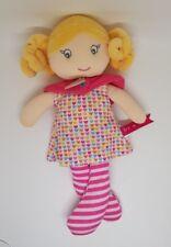Poupée Capucine Brin de Folie robe coeur rose  28cm Doudou et compagnie NEUF