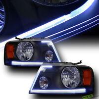 *Drl LED Tube Strip* Factory Custom Blk Headlight Lamp Parking Am For 04-08 F150