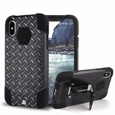 Rugged Dual Layered Case w/Stand Cover for Apple iPhone X / XS