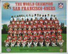 1984 1985 SAN FRANCISCO 49ERS  SUPER BOWL CHAMPIONS 8X10 TEAM PHOTO MONTANA NFL