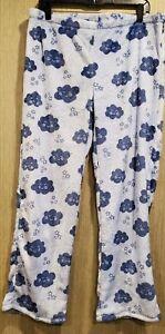 Women's Size Large Pajama Pants Blue Lounge Wear Soft Pants Joe Boxer