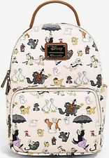 Loungefly Disney Aristocats Allover Print Mini Backpack Bag NWT