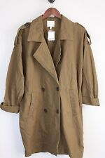 NEW Urban Outfitters Silence Noise Cotton Jacket S Oversized Brown/Green Epaulet