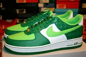 AUTHENTIC NIKE AIR FORCE 1 `07 St Patricks Day (2021) Green DD8458 300 Men size