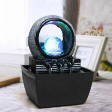 Indoor Water Fountains Tabletop Decoration With Lucky Feng Shui Ball & Led Light