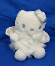 "Vintage 1999 Sanrio HELLO KITTY Snow ANGEL 10"" Plush MASCOT Christmas Doll NEW"